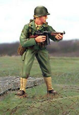 Valiant Miniatures Kit# 9642 - WWII US Ranger w/Thompson, Normandy, 1944 - 54mm