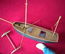 Sailboat, unique handmade rc wood and fiberglass large(read description please)