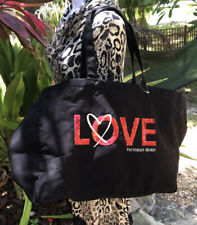 Victoria Secret Limited Edition BLACK WITH RED SEQUIN LOVE TOTE BAG TB50