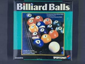 """NEW Set of 16 Miniature 1-1/2"""" Small Mini SPORTCRAFT Pool Billiard Balls"""