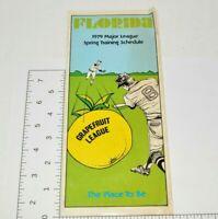 1979 MLB Schedule Florida Grapefruit League Spring Training Baseball Brochure