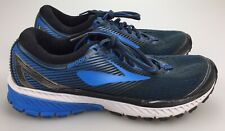 Men's BROOKS Ghost 10 Size 9 M Running Shoes Blue Gray 1102571D056