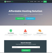 Established Web Hosting Business With Website Builder, Full Customizable, Admin