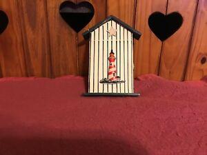 Lighthouse  Wood Key Box Home Decor Wall Mount Storage Key Hanging HolderLot0259