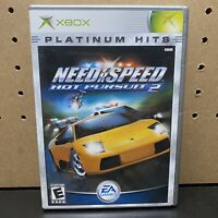 Need for Speed: Hot Pursuit 2 (Microsoft Xbox, 2002) Platinum Hits-Tested-CIB