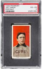 Joe Tinker 1909-11 T206 Portrait Piedmont Back Centered ! PSA 4