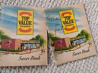 2 Vintage Top Value trading stamps unused saver books