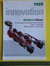 Catalogue TRIX Innovation 2007 F - Moteur Softdrive Sinus - Neuf - 4 pages