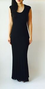 Capped Sleeve Knit Maxi Dress
