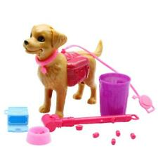 Feed, Poop and Scoop Dog with Accessories. Compatible with Barbie. UK Supplier