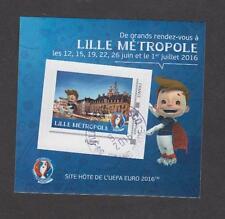 France - Bloc autocollant oblitéré Euro de Football 2016 - Lille - TB