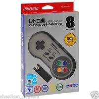 New Buffalo Nintendo Super Famicom SNES Classic USB Game Pad Controller Gamepad