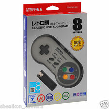 New Buffalo Nintendo Super Famicom SNES Classic USB Game Pad Controller Gamepad