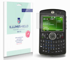 iLLumiShield Matte Screen Protector w Anti-Glare/Print 3x for Motorola Q9h