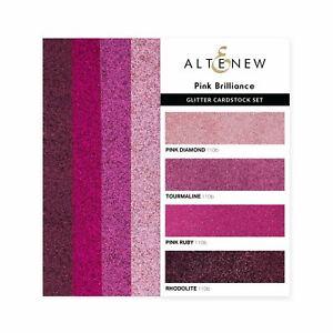 Altenew Pink Brilliance Glitter Gradient Cardstock Set  16pk