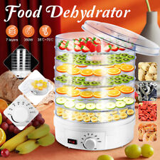 7 Tray Electric Food Dehydrator Fruit Vegetable Beef Jerky Dryer Thermostatic