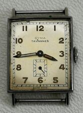 Vintage Art Deco Cyma Tavannes Swiss 15 Jewel Gents Watch Wristwatch Working
