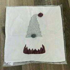 """Pottery Barn Gnome pom pom decorative Pillow cover Nwt Christmas 18"""" square"""