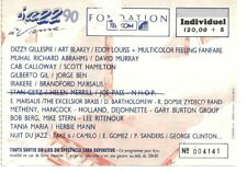 RARE / TICKET DE CONCERT - JAZZ : GILBERTO GIL LIVE A VIENNE ( FRANCE ) 1990