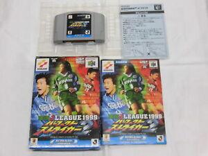 X4762 Nintendo 64  Live J League Perfect striker 2 Japan N64 w/box