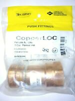 "Permanent 1/"" x 1/"" FPT CxF Tectite Copper Push-to-connect x Female FNPT Coupling"