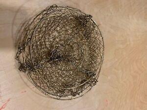 Vintage Gold Wire Mesh Hanging Fruit Basket MCM