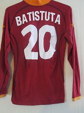 Roma 2001-2002 Batistuta 20 Home Football Shirt long sleeve adult Small /40275