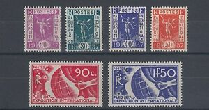 France Sc 315-320 MNH. 1936 Publicity Issue for 1937 Paris Exposition cplt, F-VF