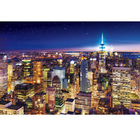 Jigsaw Puzzle 1000 pieces - New York Night View - USA (50x75cm)