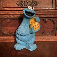 Vintage Illco Sesame Street Muppets Cookie Monster Coin Bank With Plug Stopper