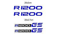 KIT 4 ADESIVI BMW R 1200 STICKER DECAL BMW R 1200 GS  GP-049 (Blu)
