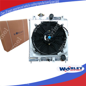 4 Rows Radiator+Shroud+Fan for Honda CIVIC EG EK B16 B18 D15 D16 1992-2000 32mm