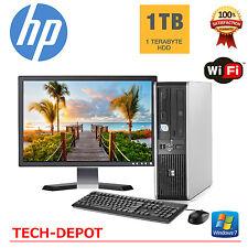 "HP Desktop PC Computer Windows 10 Core 2 Duo 4GB 1TB HD 17"" Monitor Win 10 WiFi"