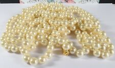 """Joan Rivers 120"""" Inch Long Single Strand Faux Pearl Flapper Style Necklace"""