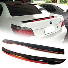 Painted BLACK & RED BMW 5-Series E60 M5 Trunk Spoiler & A Roof Spoiler 550i 525i
