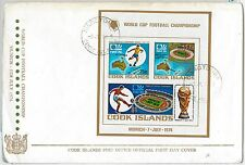 sport FOOTBALL -  POSTAL HISTORY - COOK ISLANDS: FDC Cover  1975