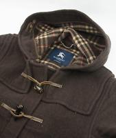 Burberry Nova Check Duffle Coat Womens Size UK 12 M L US 14 EU 44 Wool Overcoat