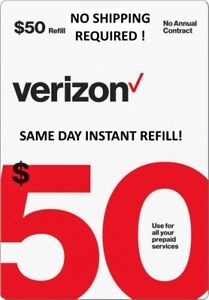 $50 VERIZON PREPAID 🔥 FAST 🔥 DIRECT TO PHONE REFILL 🔥 25yr USA TRUSTED DEALER