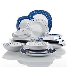 24Pcs Complete Dinner Set Ceramic Plates Dinnerware Crockery Serving Dining Sets
