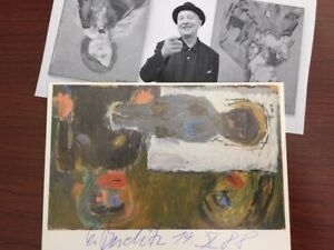 """GEORGE BASELITZ HAND-SIGNED """"UPSIDE DOWN"""" OFFSET LITHOGRAPH, DIE NACHT, 1984"""