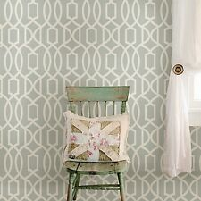 Peel and Stick Wallpaper Grand Trellis Wall Room Geometric Design Grey Decor