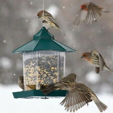 Waterproof Plastic Hanging Bird Feeder Feeding Outdoor Garden Decoration Decor