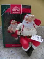 Hallmark 1992 Please Pause Here Santa Coke Coca Cola Christmas Ornament