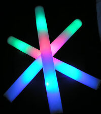 """3 Pcs 18""""  Light-Up Foam Stick LED Multi Color Flashing Rally Baton  Rave On!!"""