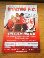 11/01/2003 Woking v Chesham United [FA Trophy] . No obvious faults, unless descr
