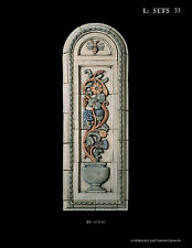 SHOWER  BATH  GARDEN   FLORAL  PANEL  ARTS & CRAFTS  GOTHIC ELLISON TILE
