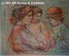 Serina & Children Artist Proof 1976 by Edna Hibel