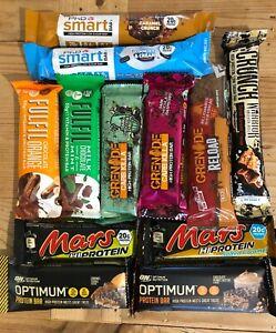 Protein Bar Mixed Pack (Grenade, PhD, Warrior, Mars, Optimum & Fulfil) Try Them