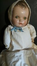 ANTIQUE!  R & B TOY CO Composition BABY DOLL Cloth BODY SLEEP METAL EYES
