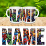 MARVEL PERSONALISED NAME MUG SUPER HEROES HULK SPIDERMAN CUP COASTER GIFT XMAS